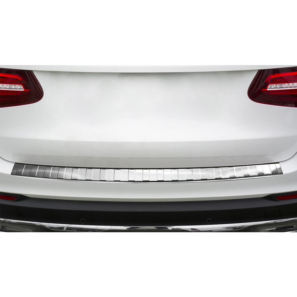 Rear bumper protector brushed steel Mercedes GLC