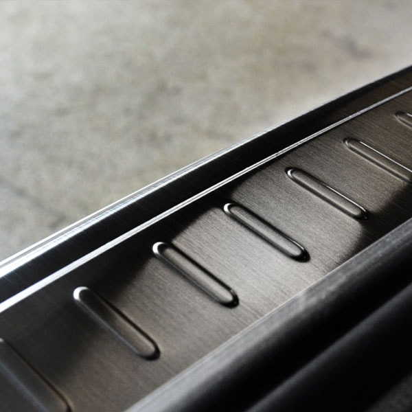 Rear bumper protector Black  brushed steel to Mercedes W205 Stationwagon
