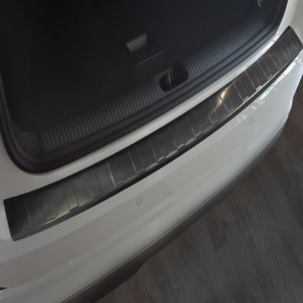 Rear bumper protector Black  brushed steel to Audi Q2