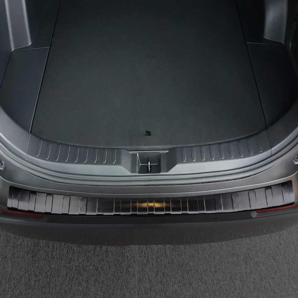 Rear bumper protector Black  brushed steel to Toyota RAV4 V generation