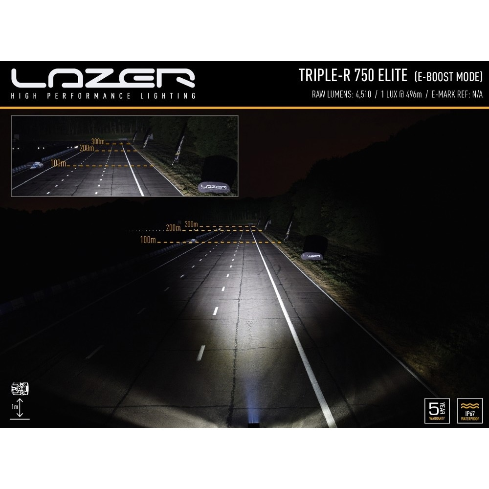 LED-ramp Lazer Triple-R 750 Elite-3 22cm (Spot)
