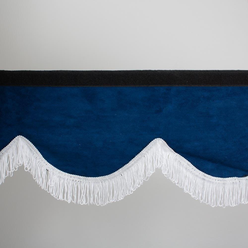 Forrude gardin blå/hvid