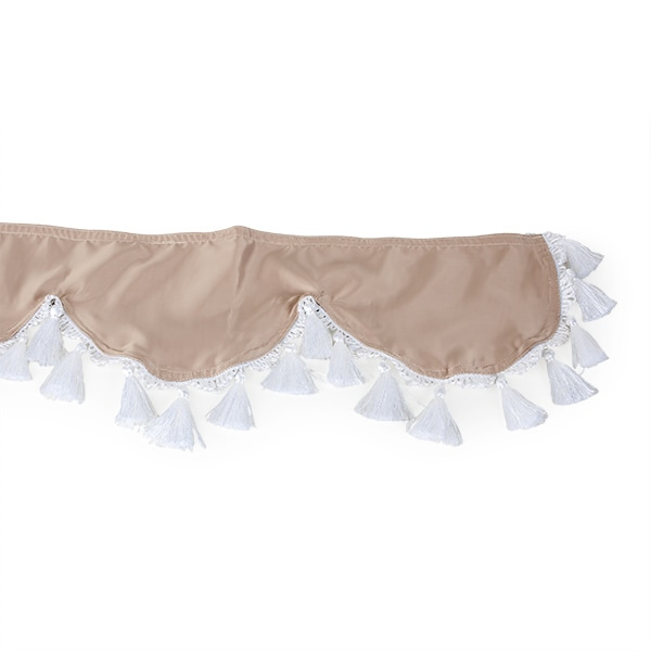 Curtain for windshield Beige/white