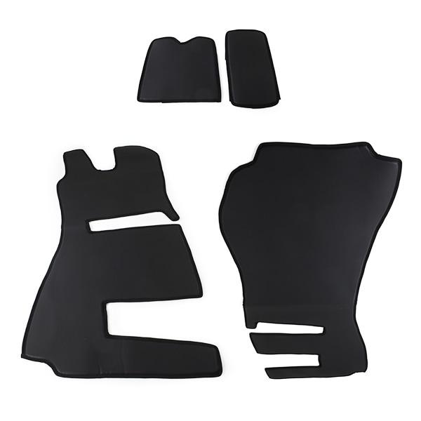 Motorklädsel & Mattor Läderlook Svart