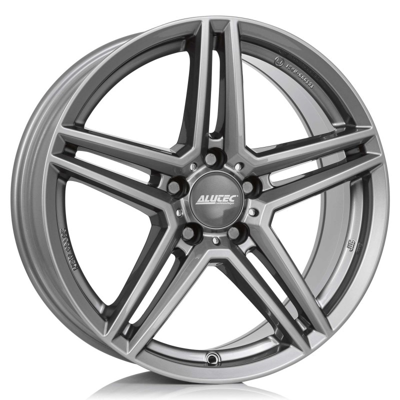 Complete set of Alutec M10 Anthracite Winter wheels