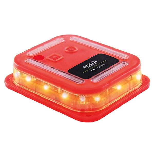 Flashlight SMART warning light 6-p LED, amber, magnet, rechargeable