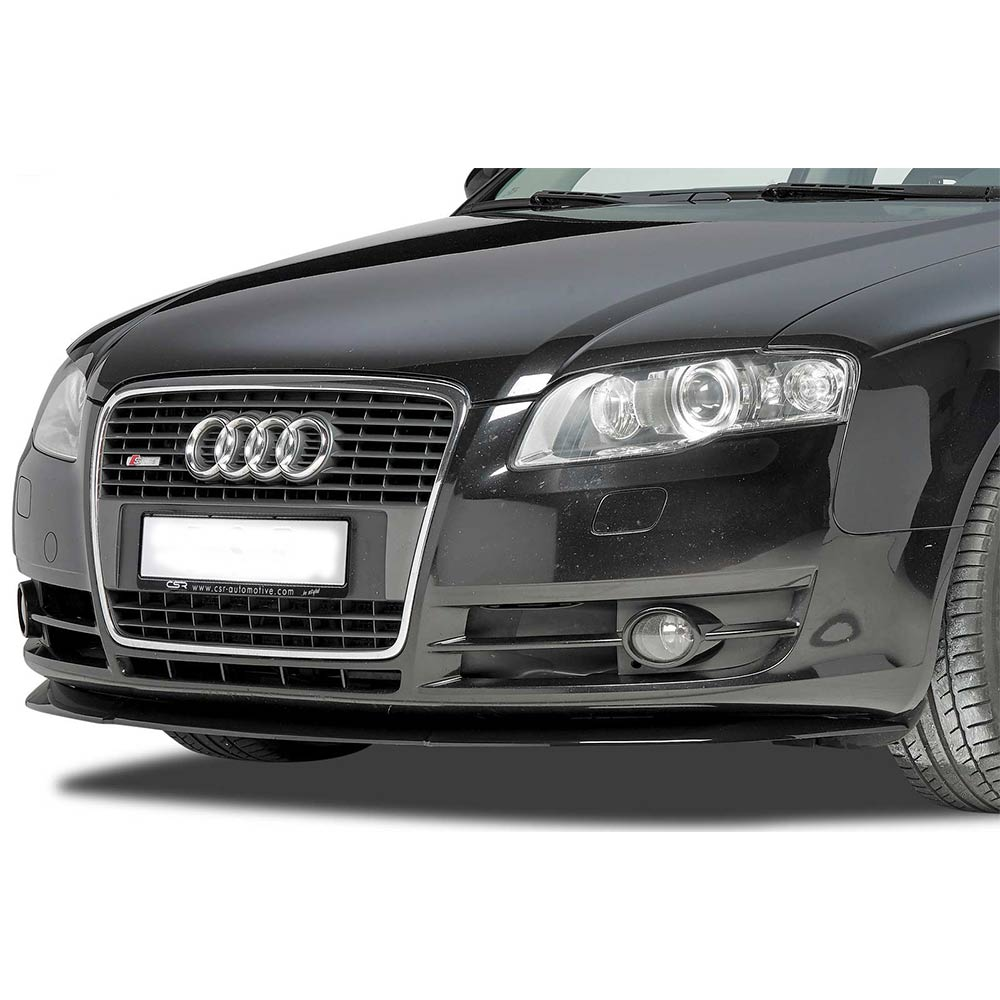 Glossy black Cupspoiler Front Audi A4 B7
