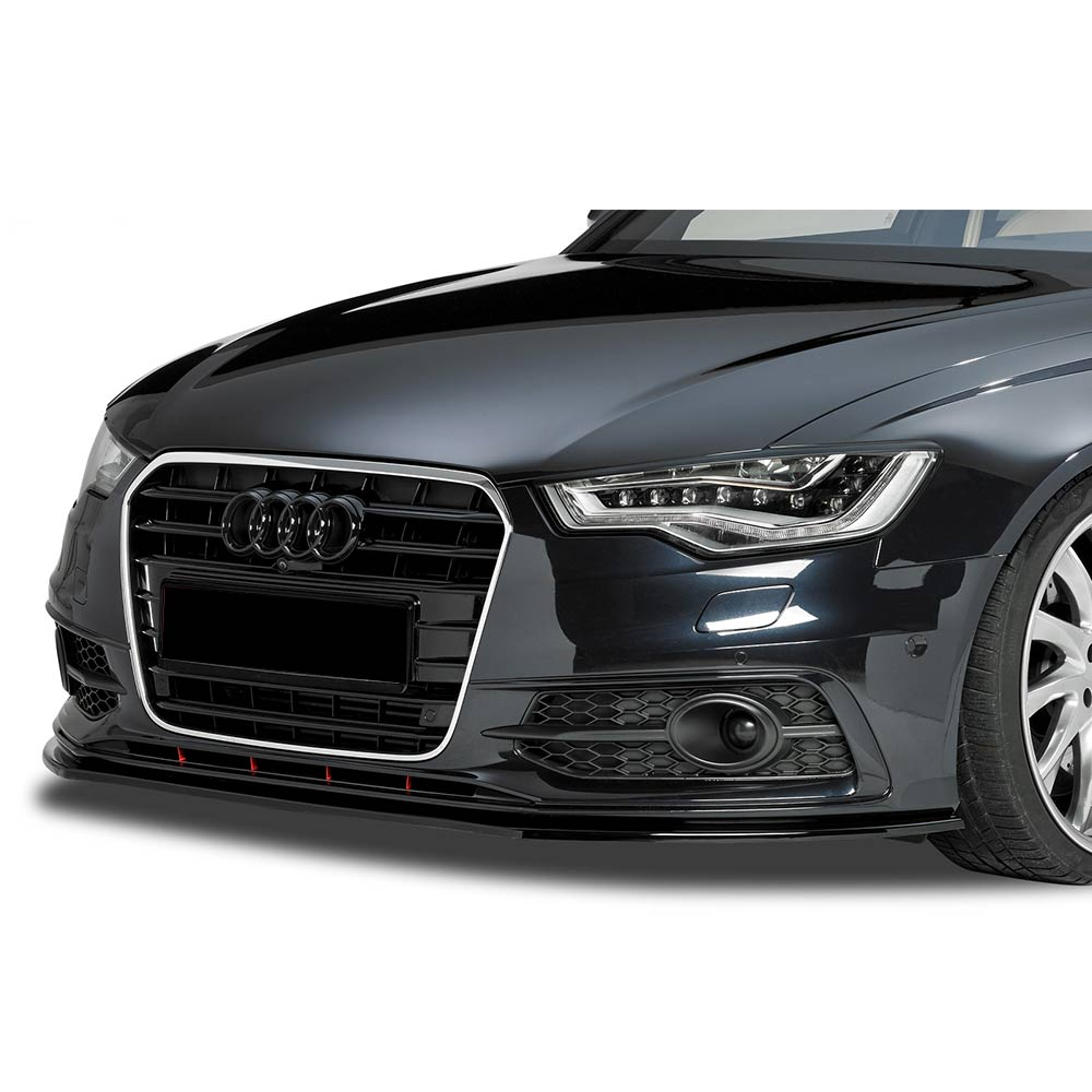 Blanksvart Cupspoiler Fram Audi A6 4G