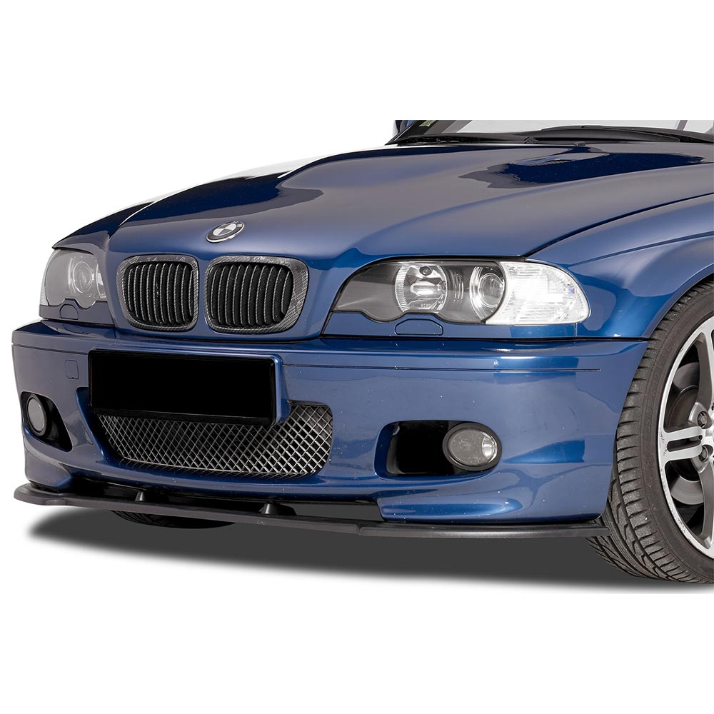 Blanksvart Cupspoiler Fram BMW E46