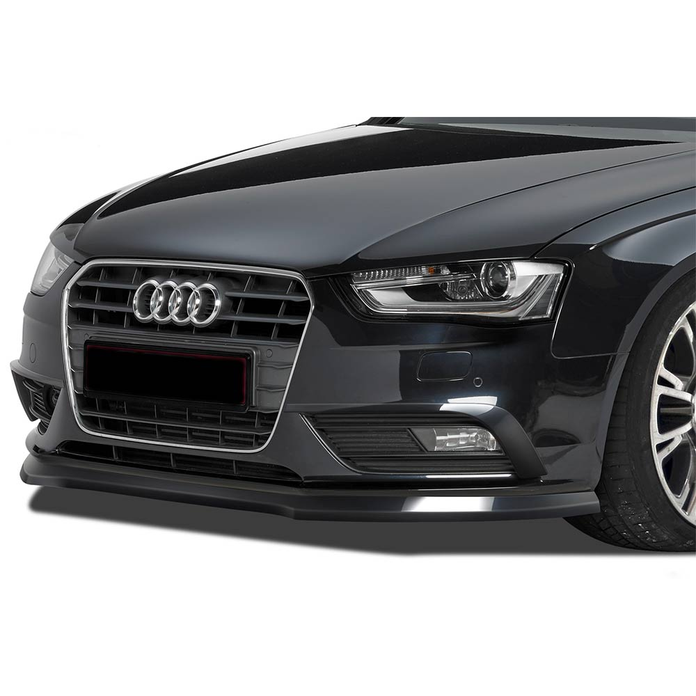 Glossy black Cupspoiler Front Audi A4 8K