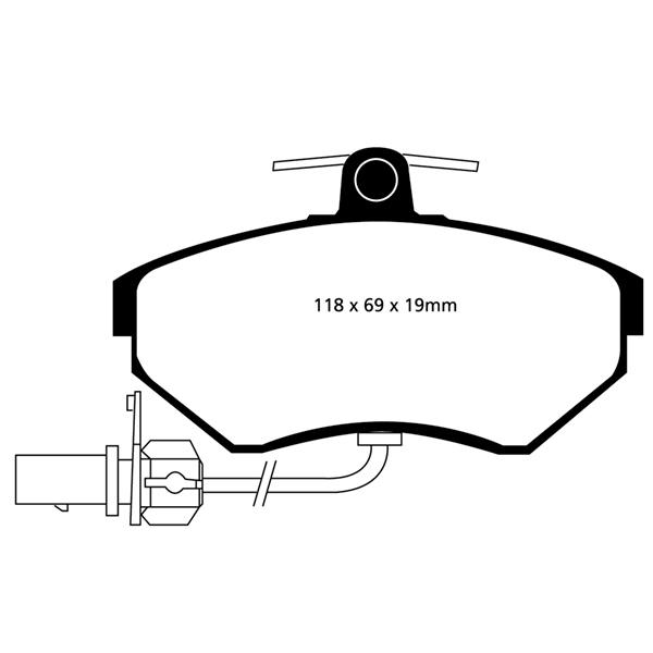 EBC Brake pads Front - Audi