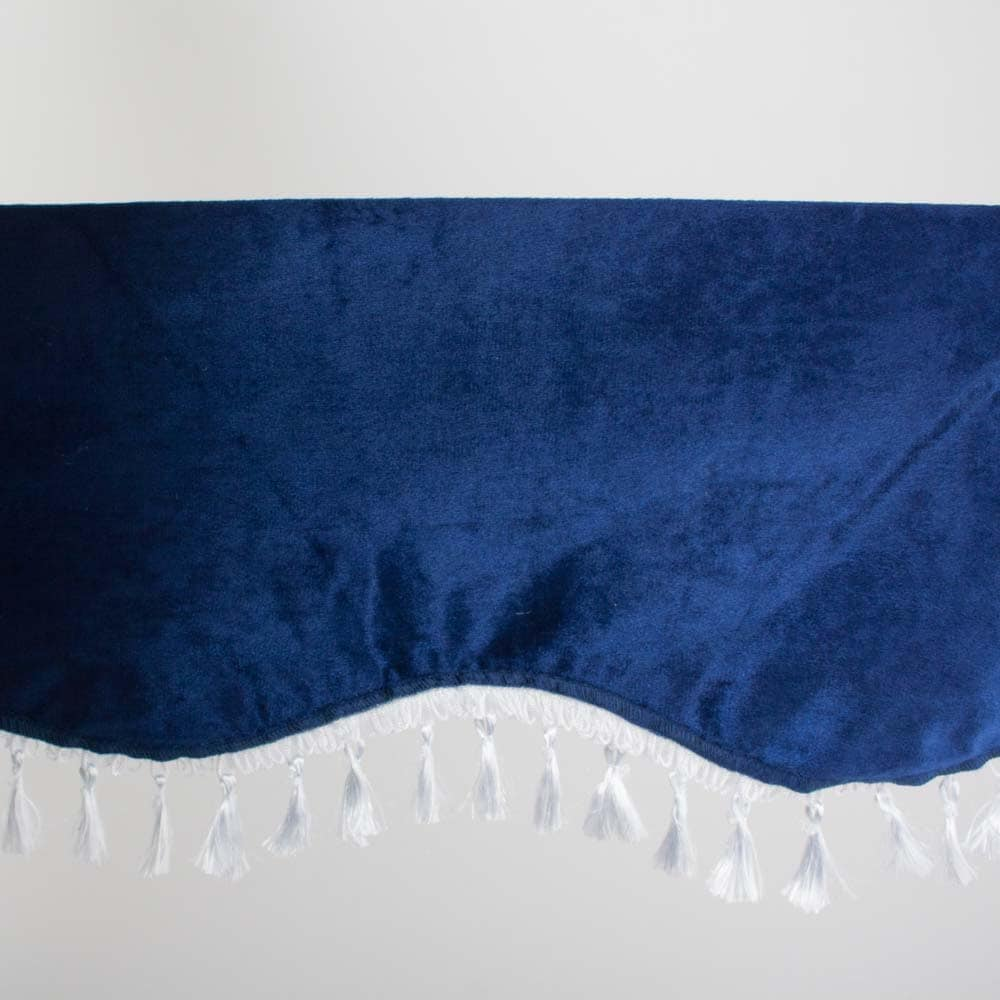 Gardin för vindruta blå/vit
