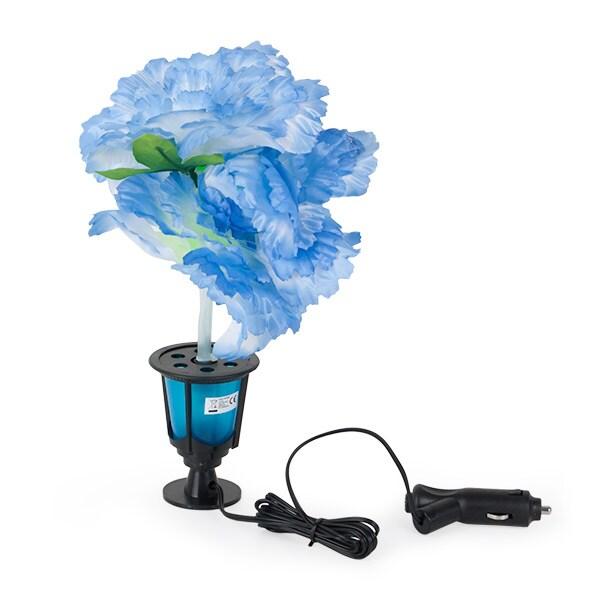 Upplyst plastblomma blå