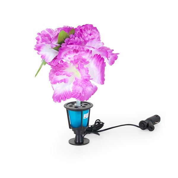 Upplyst plastblomma rosa