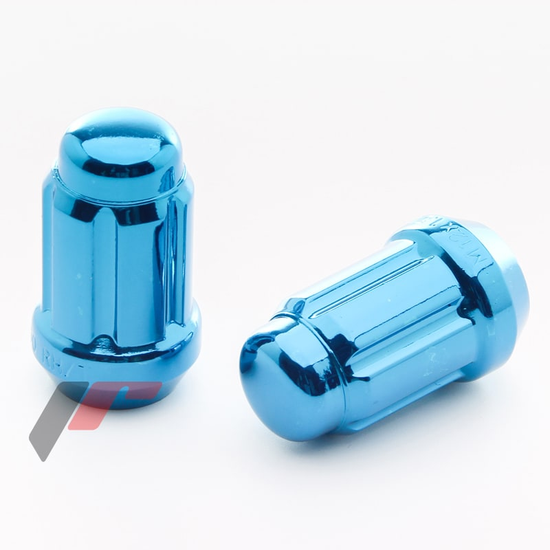 Blå hjulmuttrar - Komplett sats