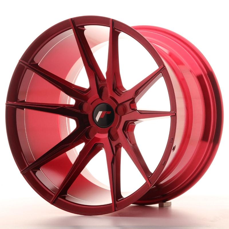 JR21 Platinum Röd Fälgpaket