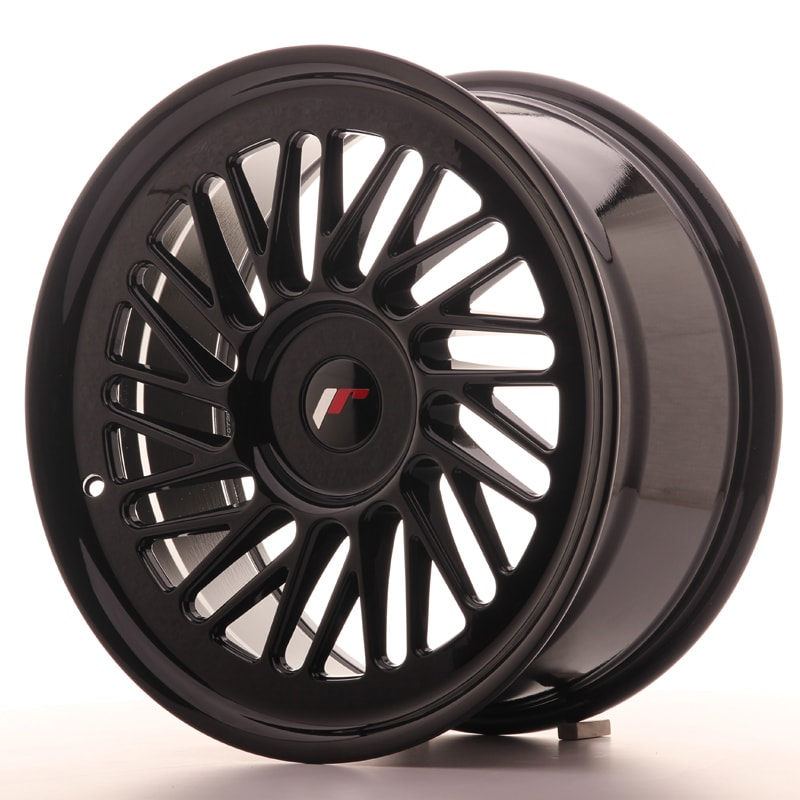 Complete wheel set of  JR27 Glossy black
