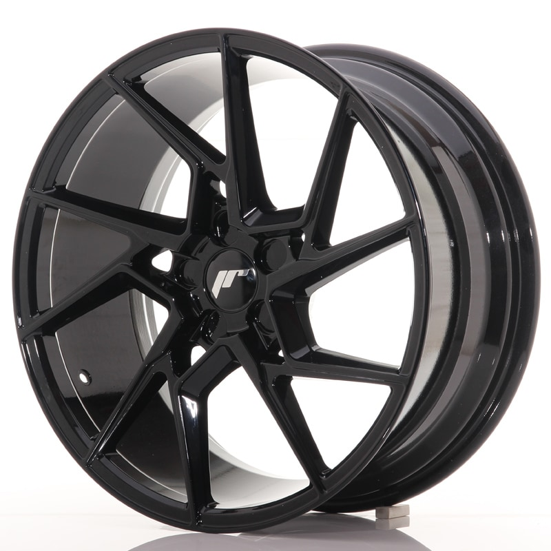 Complete wheel set of  JR33 Glossy black