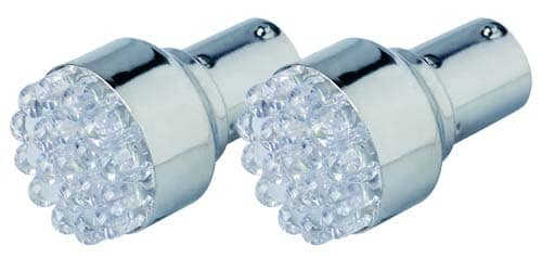 24 LED BA15S White 2 Pack