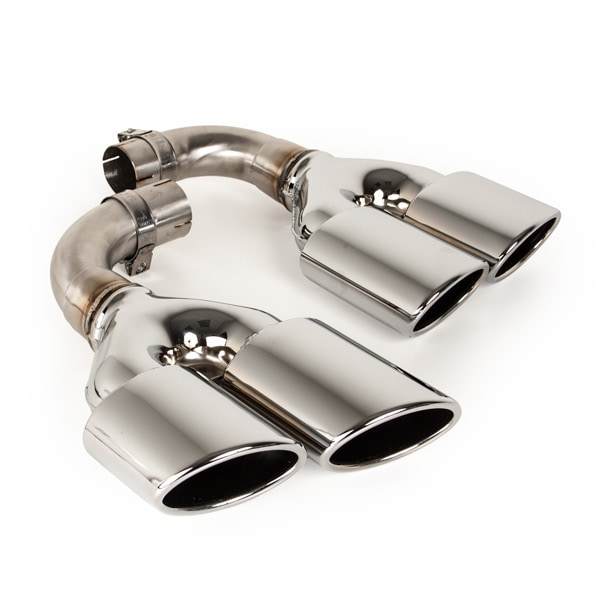Endpipe double, with bend Volvo S60/V60