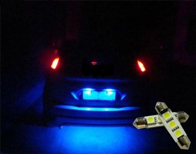 LED Spollampor Canbus Blå