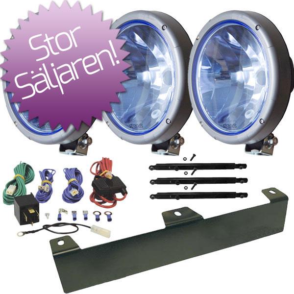 3-Pack Extraljus Ljusdal slim blå 9´ Halogen - SLD