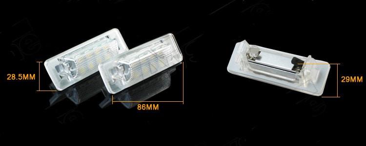 LED number plate lights Mercedes