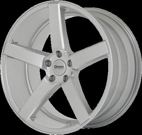 Complete wheel set of Ocean Cruise Silver