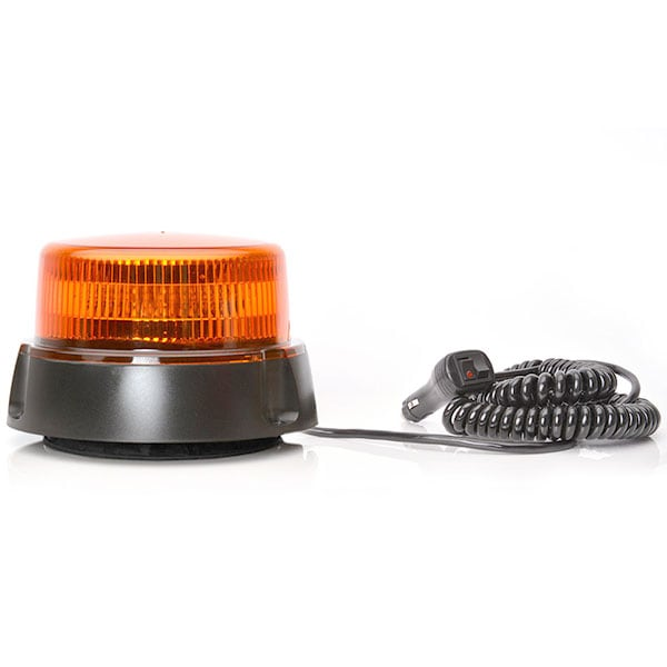 LED Rotorljus Orange Magnet Ciggkabel