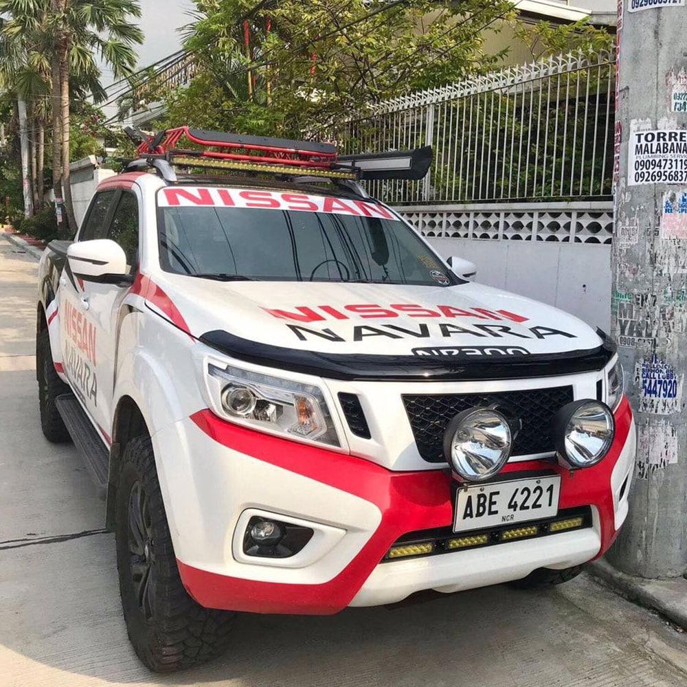 Bonnet guard protector  Nissan center holeara