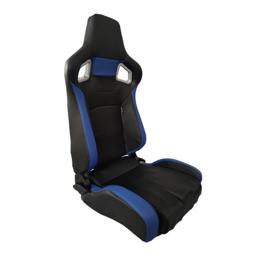 Sports car seat chair Type RS6-II PU Black/Blue