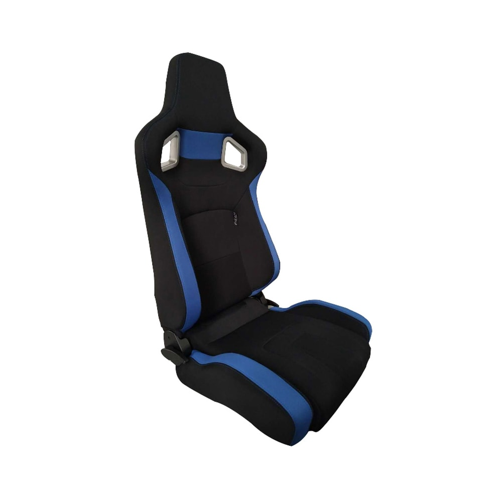 Sports car seat chair Type RS6-II Textile Black/Blue