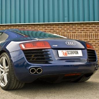 Sport exhaust halfsystem with ventiler! - Audi R8 V8
