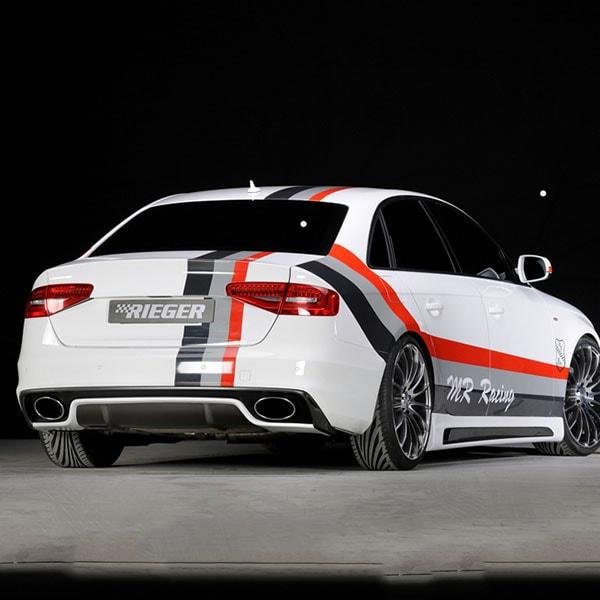 Rear diffuser Rieger Audi A4