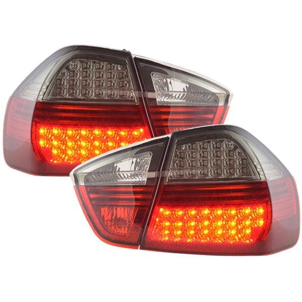 LED Baklampor röd svarta BMW E90