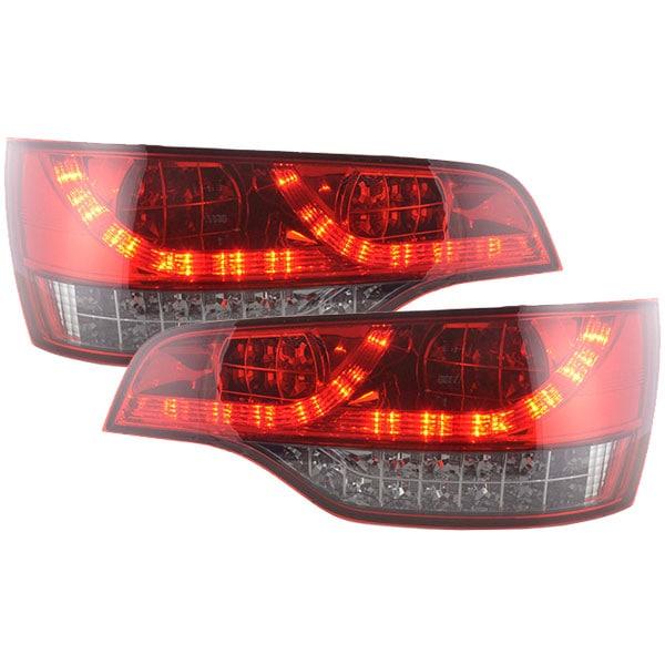LED rear lamps red black Audi Q7