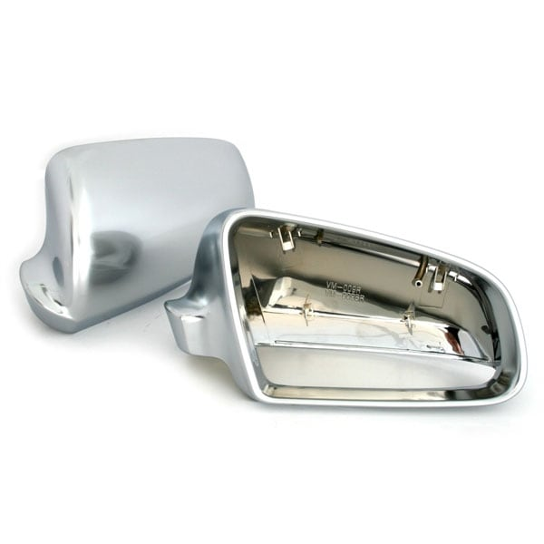 Mirror covers in brushed aluminium look Audi