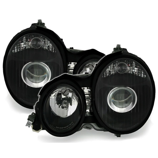 Headlights Black Mercedes W210