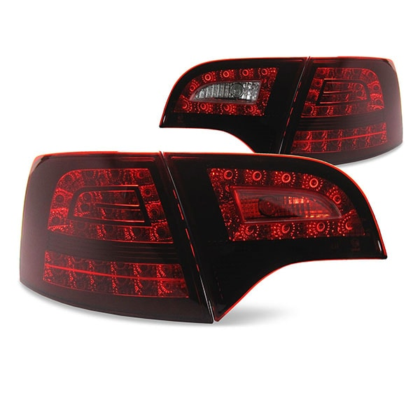 LED rear lamps dark red Audi A4 B7
