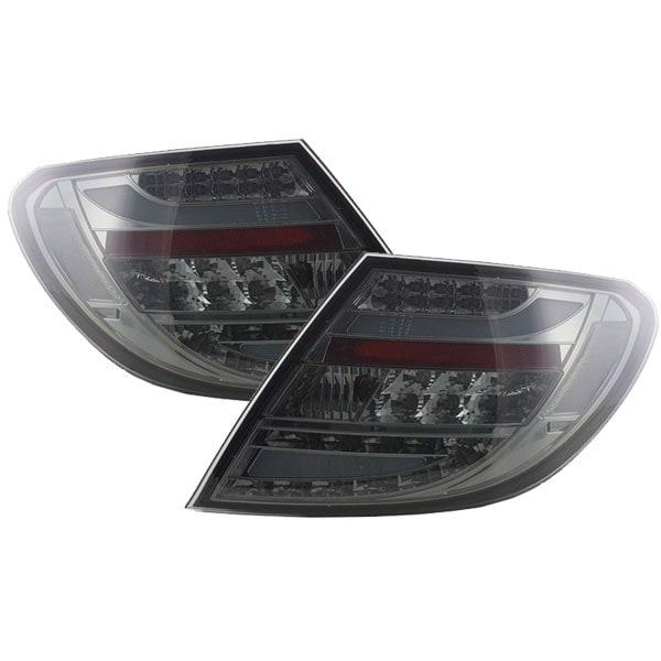 Baklampor svarta LED Mercedes W204