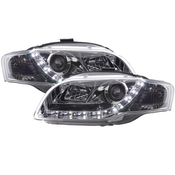 Devileyes Strålkastare LED Krom Audi A4