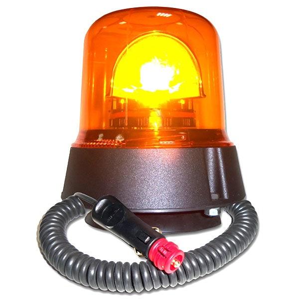Roterande LED ljus med magnetfot