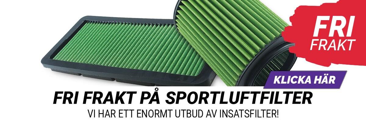 Fri frakt på Sportluftfilter