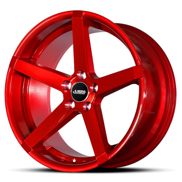 Complete wheel set of  ABS 355 Candyred