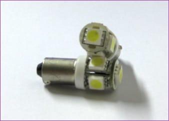 BA9S LED SMD Blå