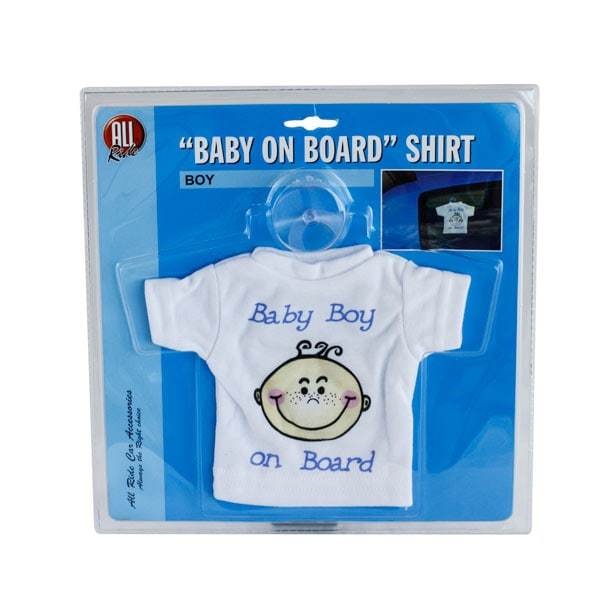 Dekoration T-shirt ´Baby boy on board´