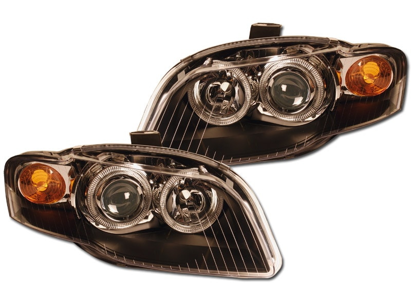 Strålkastare Angeleyes Svarta Audi