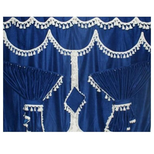 Curtainset 7 parts Blue