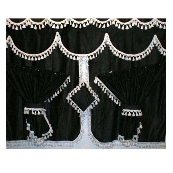 Curtainset 7 parts Black