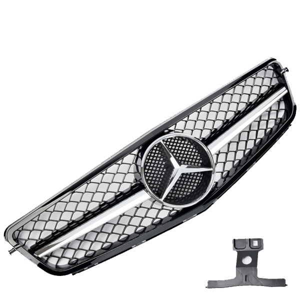 Honeycomb Grill Black /Chrome  Mercedes W204